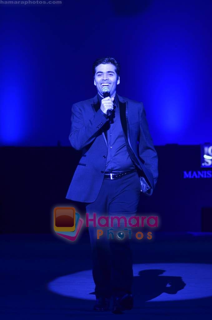 Karan Johar at Manish Malhotra show for Chivas Studio in Mahalaxmi Race Course on 15th Jan 2011
