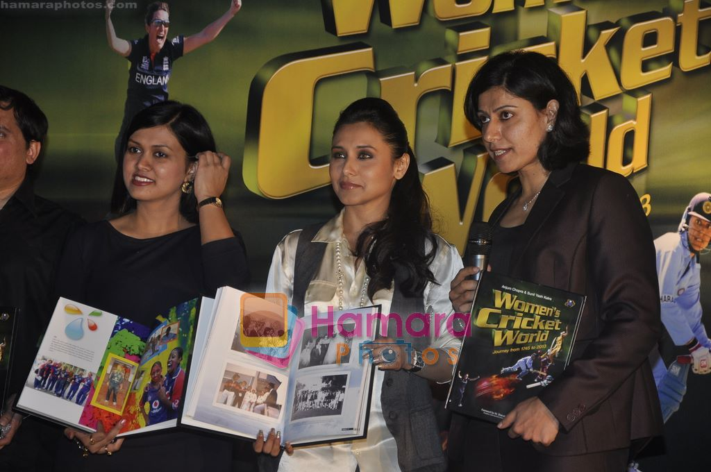 Rani Mukherjee, Devita Saraf at the launch of www.womenscricketworld.com in J W Marriott, Juhu, Mumbai on 11th Feb 2011