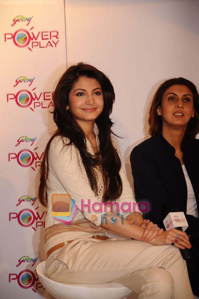 Anushka Sharma at IPL-Godrej Power Play launch in Trident, Mumbai on 6th April 2011