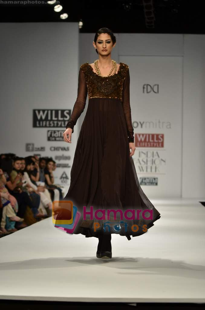 Model walks the ramp for Joy Mitra show on Wills Lifestyle India Fashion Week 2011 - Day 2 in Delhi on 7th April 2011