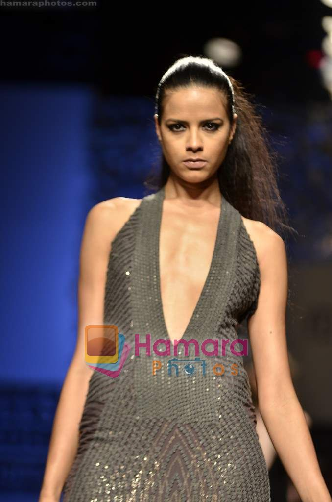Model walks the ramp for Namrata Joshipura show on Wills Lifestyle India Fashion Week 2011 - Day 3 in Delhi on 8th April 2011