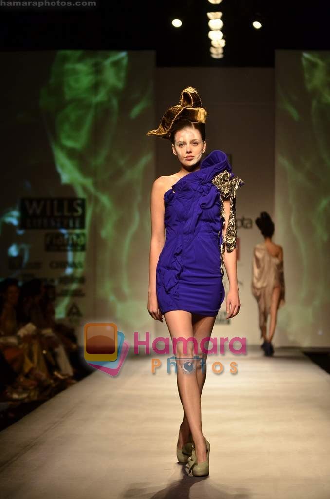 Model walks the ramp for Gaurav Gupta show on Wills Lifestyle India Fashion Week 2011-Day 4 in Delhi on 9th April 2011