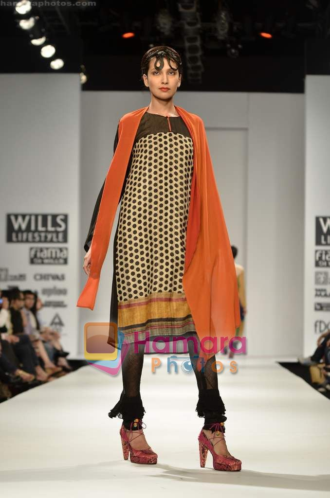 Model walks the ramp for Koga show on Wills Lifestyle India Fashion Week 2011-Day 4 in Delhi on 9th April 2011