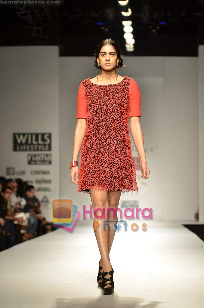 Model walks the ramp for My Village show on Wills Lifestyle India Fashion Week 2011-Day 4 in Delhi on 9th April 2011