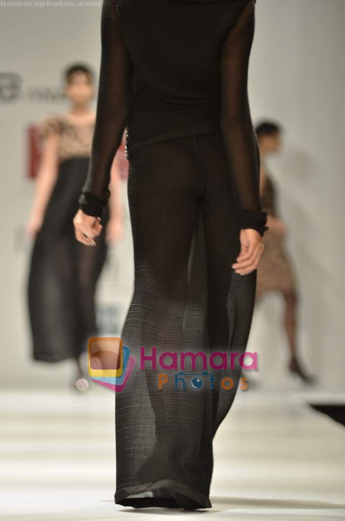 Model walks the ramp for Anand Bhushan show on Wills Lifestyle India Fashion Week 2011-Day 4 in Delhi on 9th April 2011