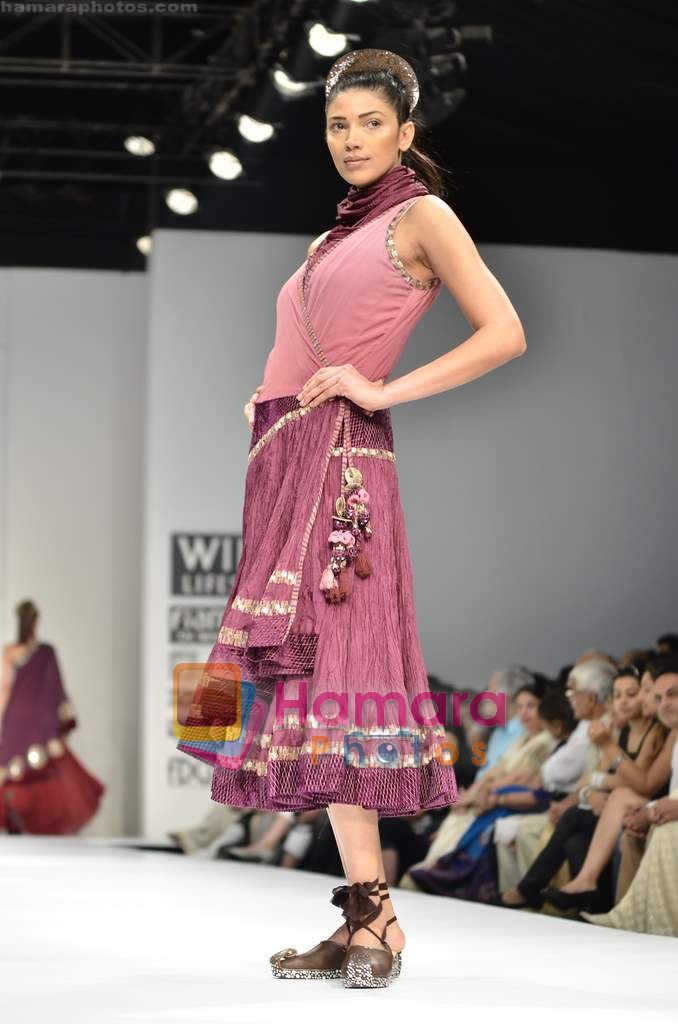 Model walks the ramp for Pallavi Jaipur show on Wills Lifestyle India Fashion Week 2011-Day 4 in Delhi on 9th April 2011