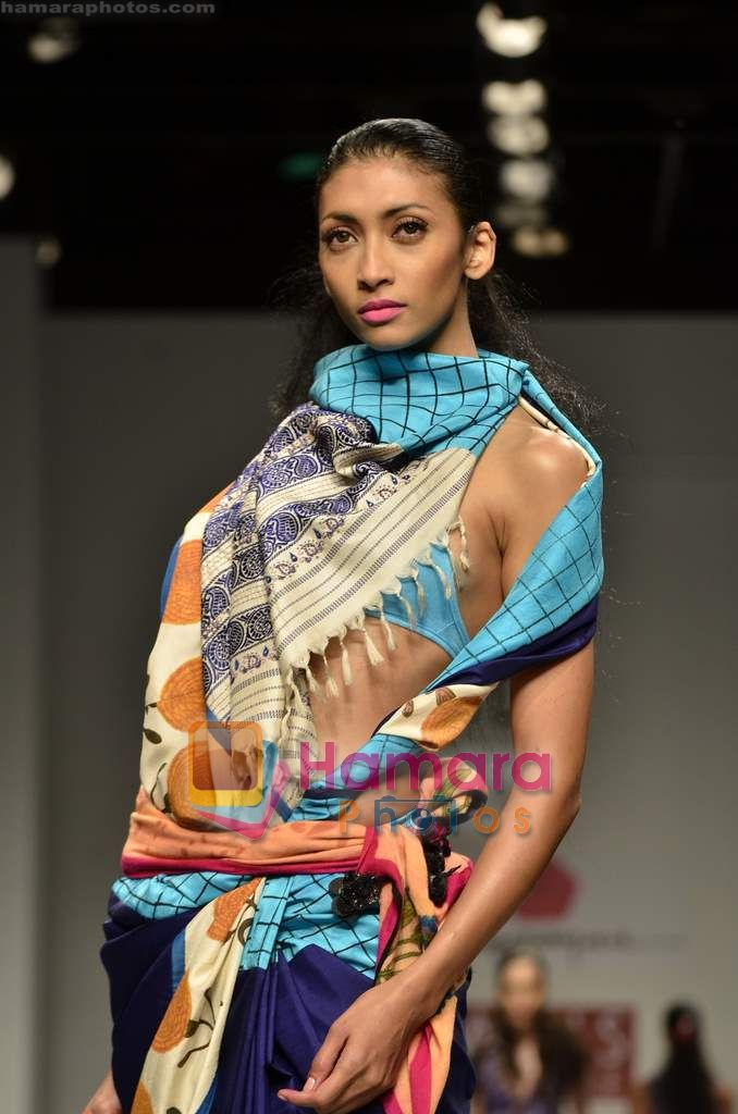 Model walks the ramp for Anupama Dayal show on Wills Lifestyle India Fashion Week 2011-Day 4 in Delhi on 9th April 2011