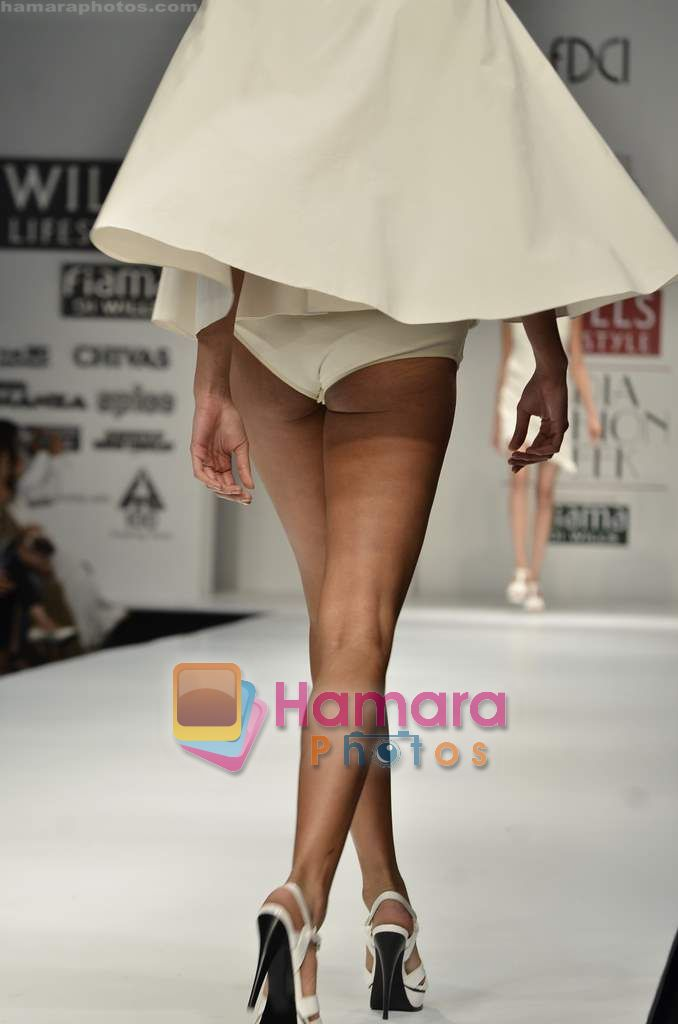 Model walks the ramp for Sonia Sarin Designs show on Wills Lifestyle India Fashion Week 2011-Day 4 in Delhi on 9th April 2011