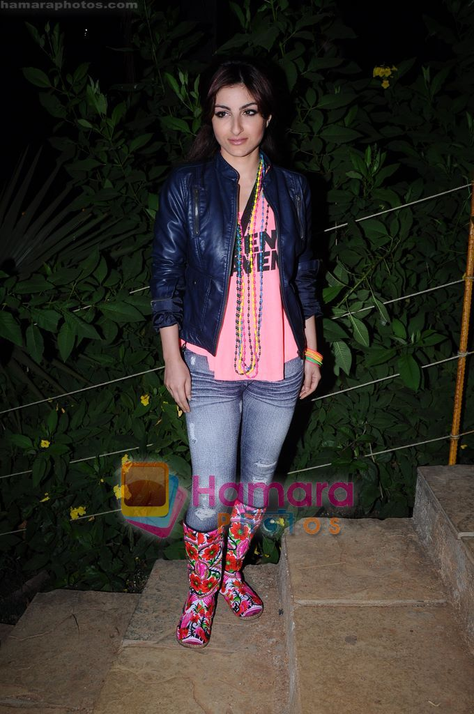 Soha Ali Khan on the sets of Soundtrack in Bandra, Mumbai on 9th April 2011