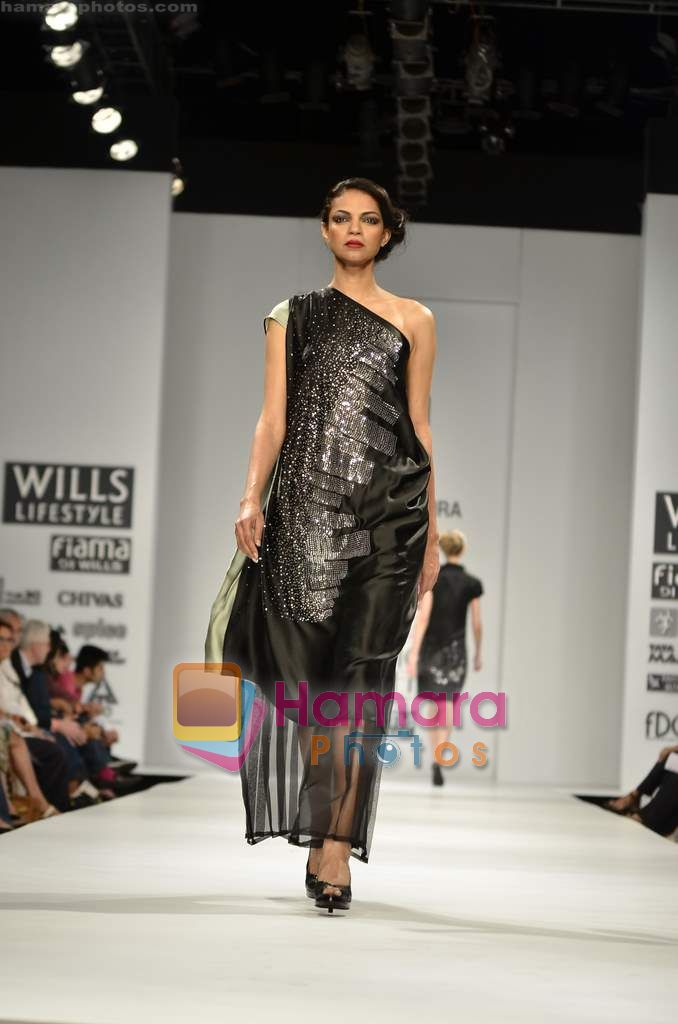 Model walks the ramp for Rahul Reddy show on Wills Lifestyle India Fashion Week 2011-Day 5 in Delhi on 10th April 2011