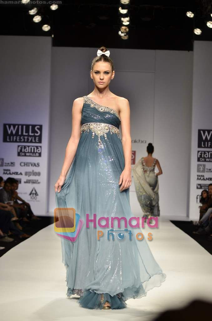 Model walks the ramp for Rabani Rakha show on Wills Lifestyle India Fashion Week 2011-Day 5 in Delhi on 10th April 2011