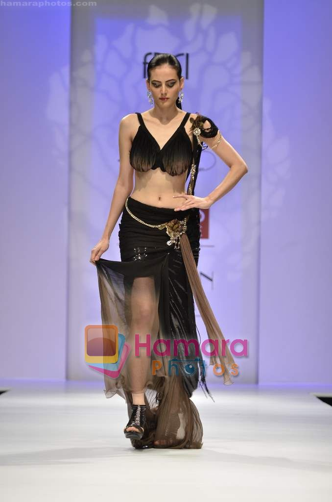 Model walks the ramp for Soltee show on Wills Lifestyle India Fashion Week 2011-Day 5 in Delhi on 10th April 2011