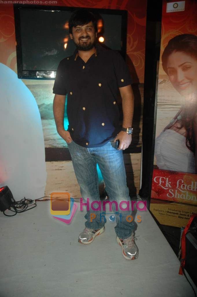 Wajid at the launch of singer Apoorv's album in Vie Lounge on 21st April 2011