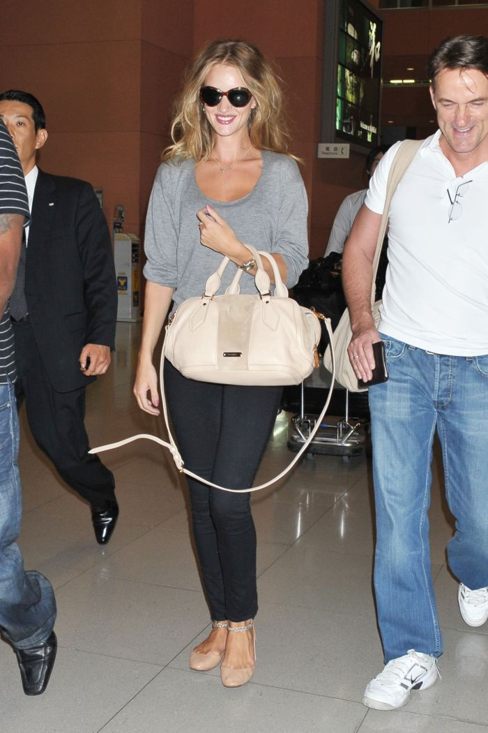 Rosie Huntington-Whiteley snapped on arrival at Kansai International Airport, Japan on 15th July 2011
