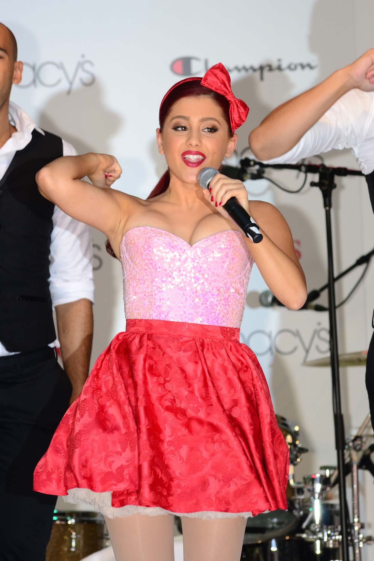 Ariana Grande performing at Macy's Annual Summer Blowout Show in NYC on July 17, 2011