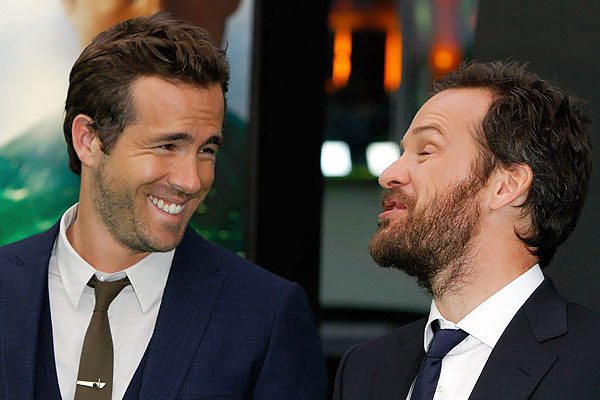 Ryan Reynolds, Peter Sarsgaard attends the Berlin Premiere of the movie Green Lantern on 25th July 2011 in Berlin, Germany
