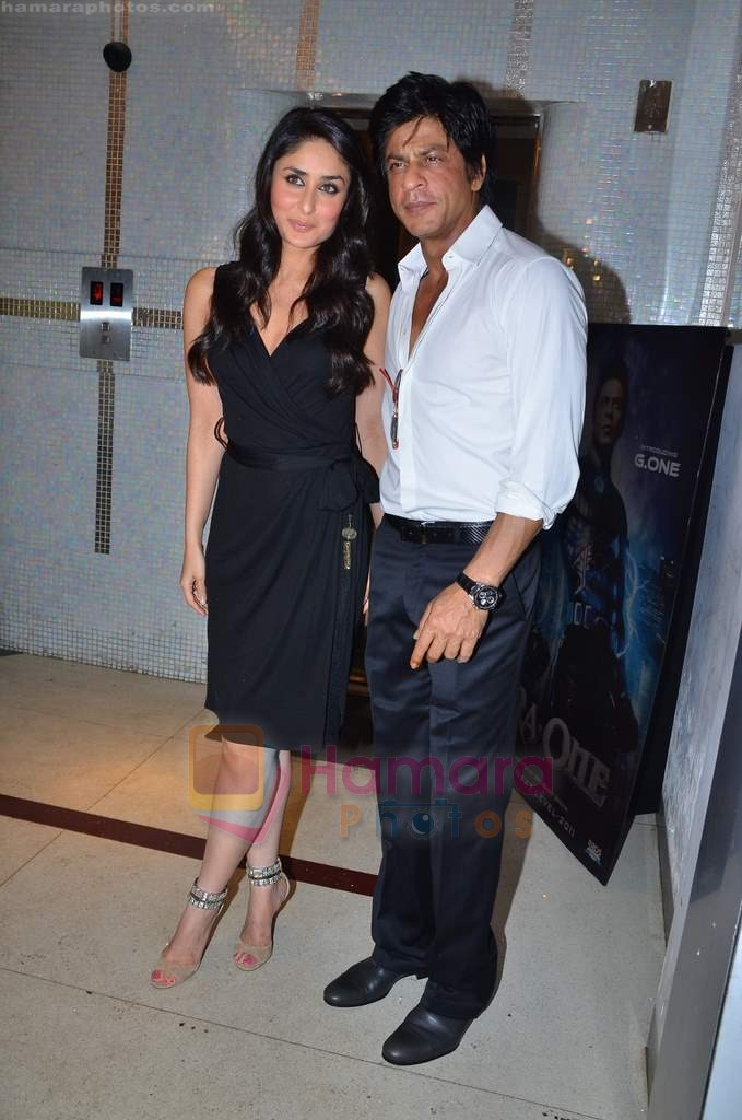 Kareena Kapoor, Shahrukh Khan at Ra One Completion bash in Esco Bar on 31st July 2011