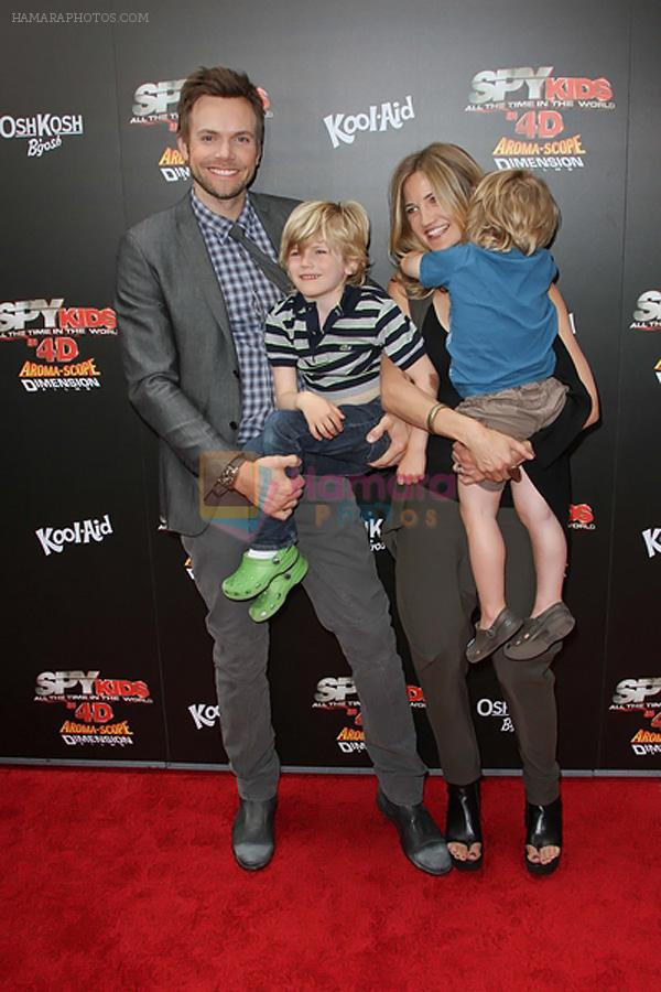 Joel McHale arrives at the Spy Kids- All The Time In The World 4D Los Angeles Premiere on July 31, 2011 in Los Angeles, California