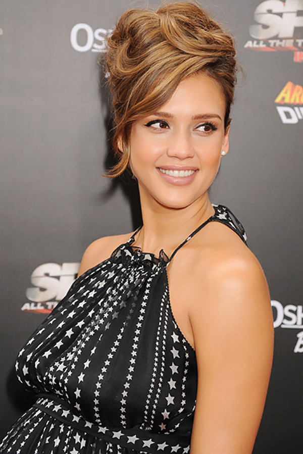 Jessica Alba arrives at the Spy Kids- All The Time In The World 4D Los Angeles Premiere on July 31, 2011 in Los Angeles, California
