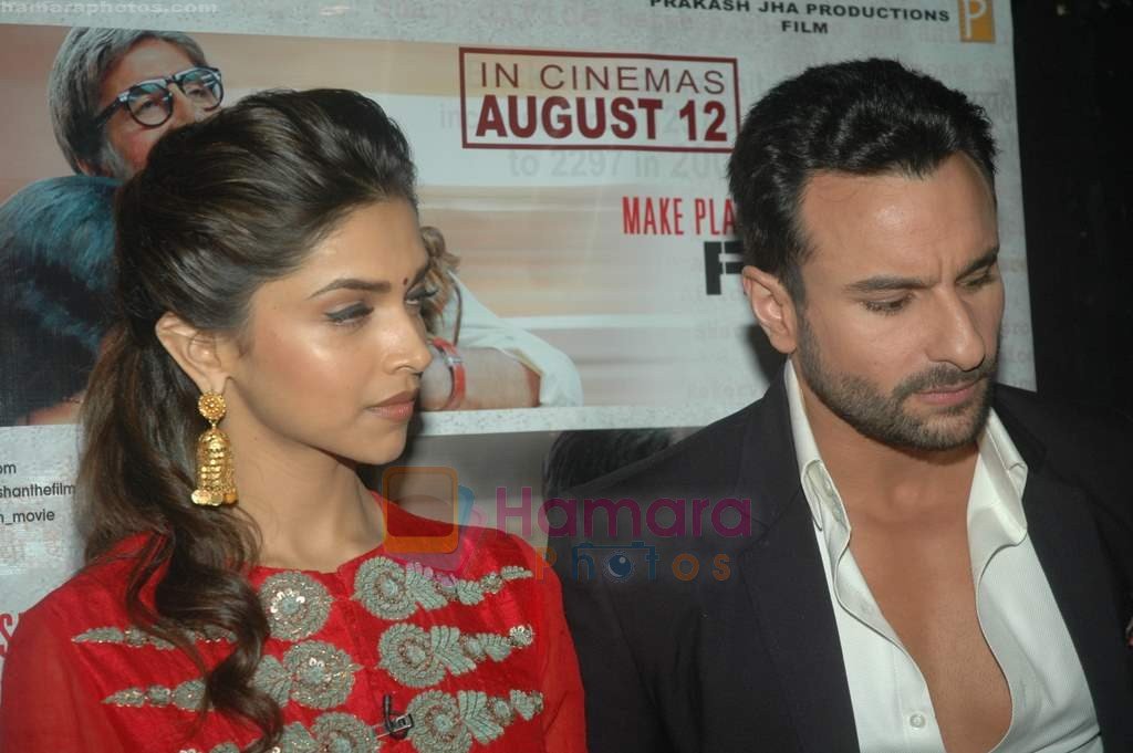 Saif Ali Khan, Deepika Padukone spotted on the sets of Kaun Banega Crorepati 5 in Film City on 31st July 2011