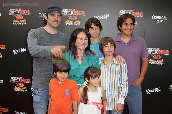 Robert Rodriguez and Elizabeth Avellan arrives at the Spy Kids- All The Time In The World 4D Los Angeles Premiere on July 31, 2011 in Los Angeles, California