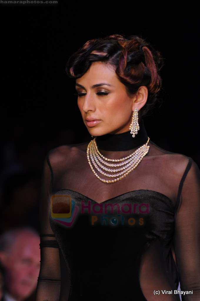 Model walks the ramp for CVM exports show at IIJW 2011 Day 2 in Grand Hyatt on 1st Aug 2011