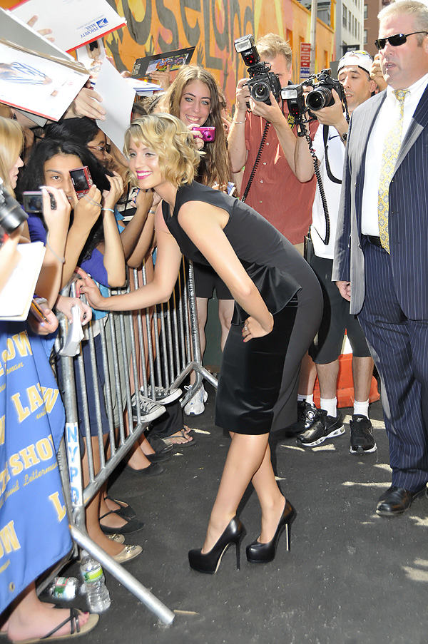 Diana Agron attending the Late Show with David Letterman at the The Ed Sullivan Theater, New York City, NY, USA on August 1, 2011