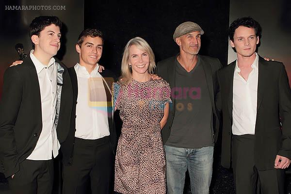Christopher Mintz-Plasse, Dave Franco, Marti Noxon, Craig Gillespie and Anton Yelchin at the movie Fright Night Los Angeles Special Screening in Arclight Cinemas, Hollywood on 17th August 2011