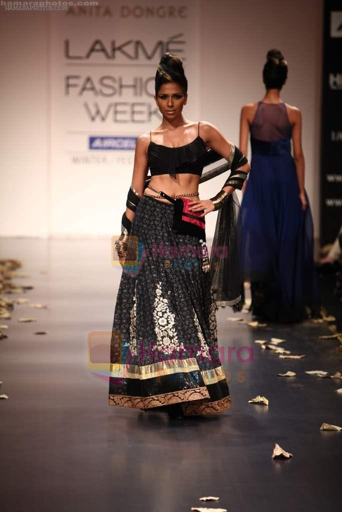 Model walks the ramp for Anita Dongre Show at Lakme Fashion Week 2011 Day 2 in Grand Hyatt, Mumbai on 18th Aug 2011