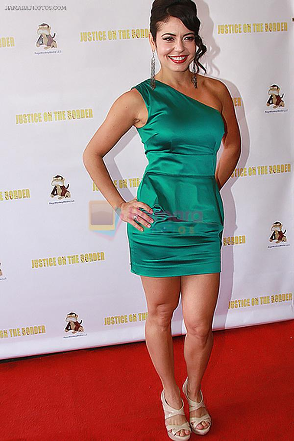 Vanessa Herrera attends the Long Beach Premiere of movie Justice on the Border at the Art Theater of Long Beach on 20th August 2011