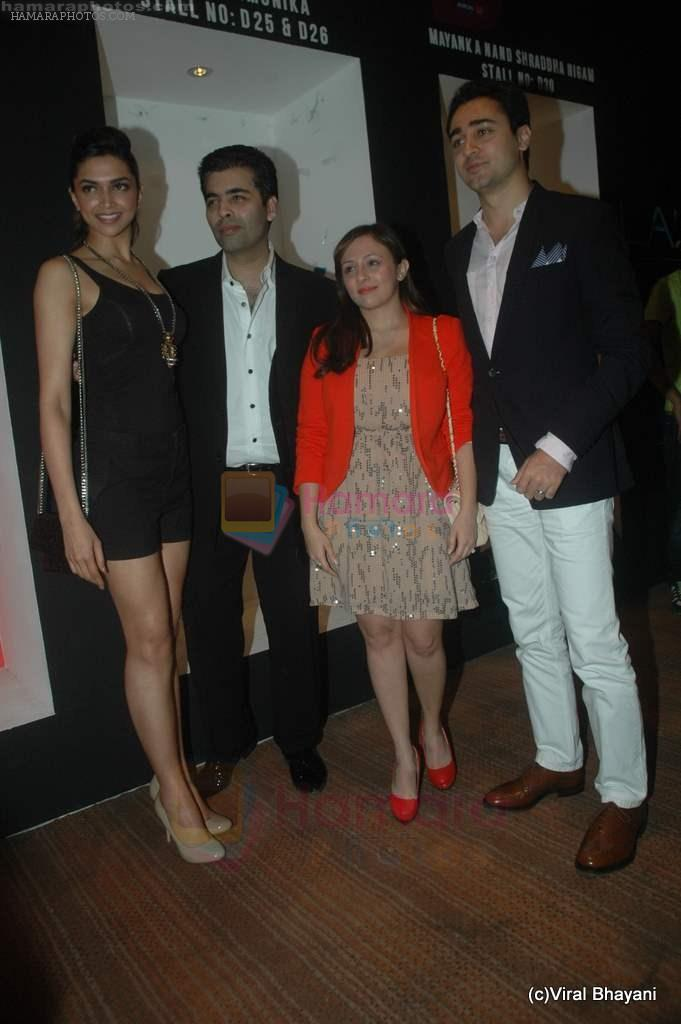 Deepika Padukone, Karan Johar, Imran Khan, Avantika Malik at Manish Malhotra Show at Lakme Fashion Week 2011 Day 5 in Grand Hyatt, Mumbai on 21st Aug 2011