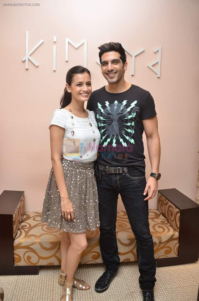 Dia Mirza, Zayed Khan at the promotions of Love Break up zindagi in Kimaya,  Delhi on 3rd Sept 2011 / Dia Mirza - Bollywood Photos