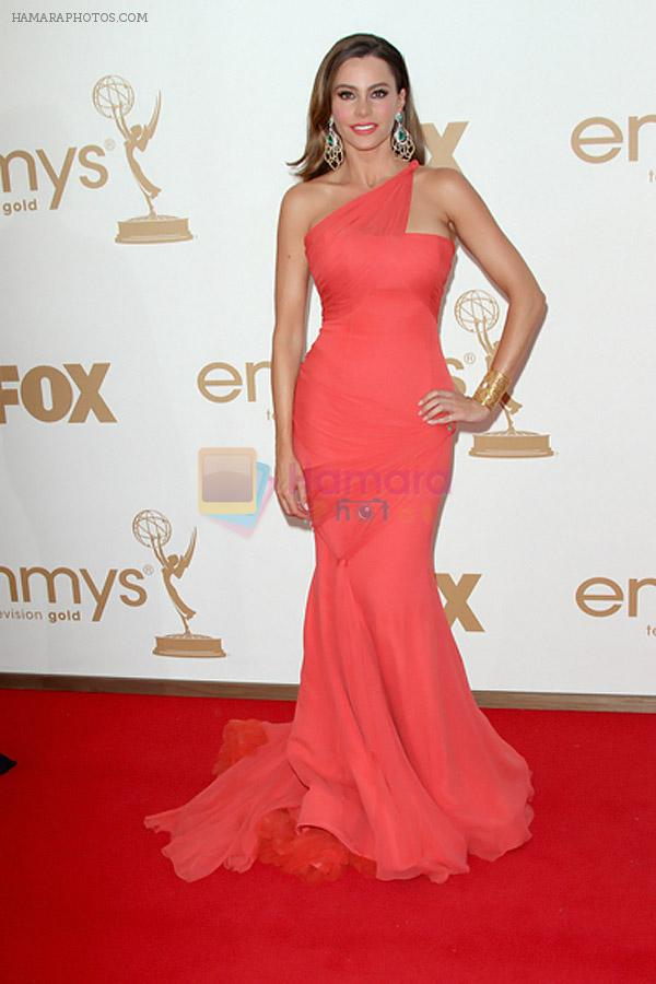 Sofia Vergara attends the 63rd Annual Primetime Emmy Awards in Nokia Theatre L.A. Live on 18th September 2011