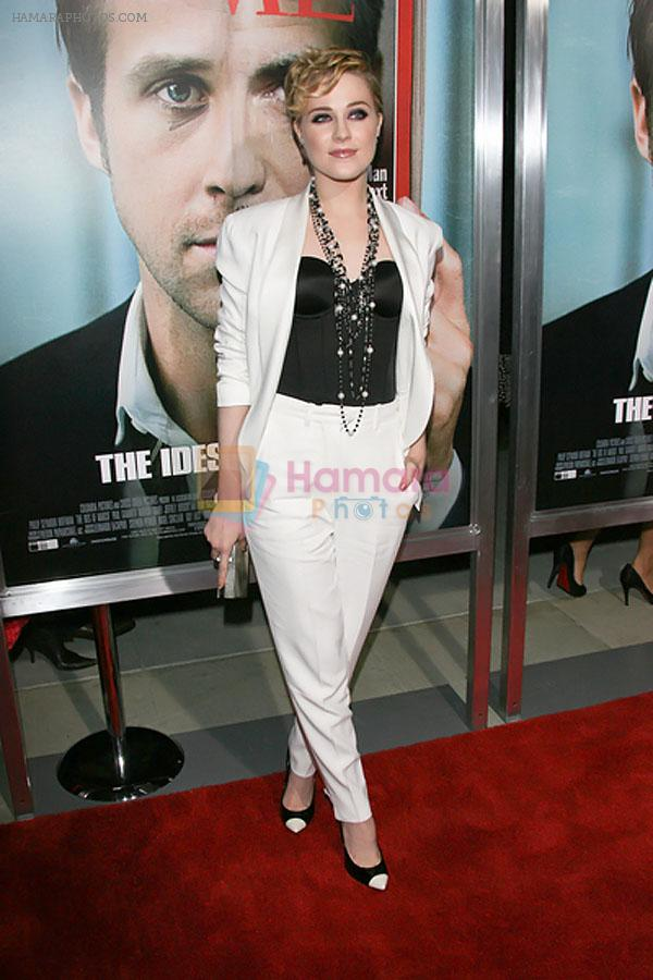 Evan Rachel Wood attends the The Ides of March Los Angeles Premiere in AMPAS Samuel Goldwyn Theater on 27th September 2011