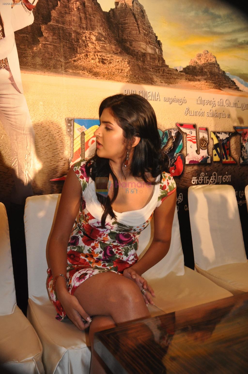 Deeksha Seth attends Rajapattai Press Meet