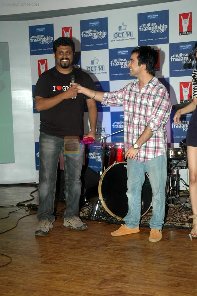 at Yashraj Films Mujhse Fraandship Karoge music showcase in Yashraj Studios on 28th Sept 2011