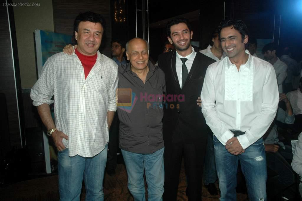 Anu Malik, Mahesh Bhat, Chirag Paswan., Anuj Saxena at the audio release of the film Miley Naa Miley Hum in Novotel on 28th Sept 2011