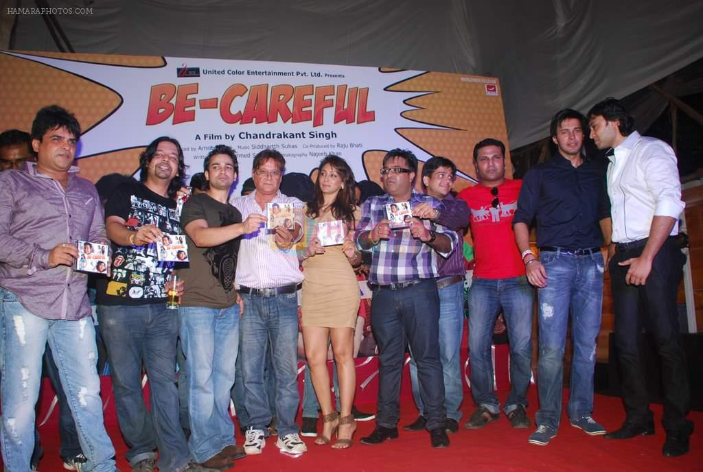Zaid Shaikh, Shilpi Sharma, Rajneesh Duggal at Be Careful music launch in Sheesha Lounge on 28th Sept 2011