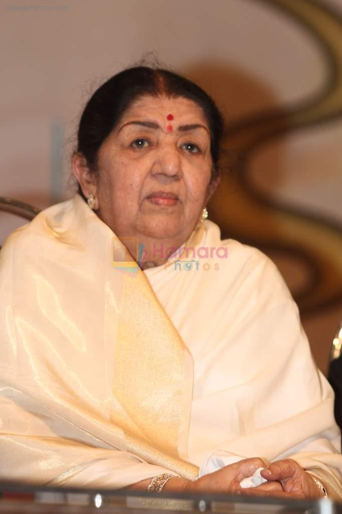 Lata Mangeshkar at Lata Mangeshkar's birthday concert in Shanmukhanand Hall on 28th Sept 2011