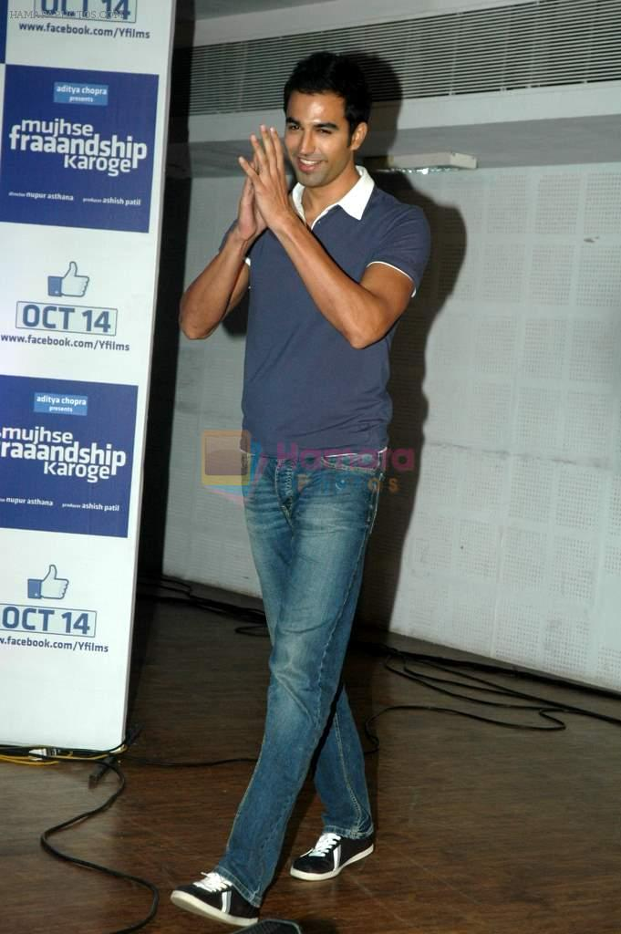 Nishant Dahiya at Yashraj Films Mujhse Fraandship Karoge music showcase in Yashraj Studios on 28th Sept 2011