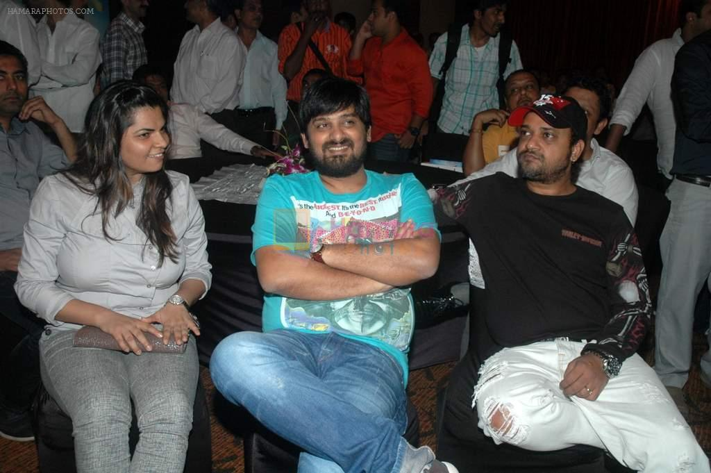Sajid, Wajid at the audio release of the film Miley Naa Miley Hum in Novotel on 28th Sept 2011