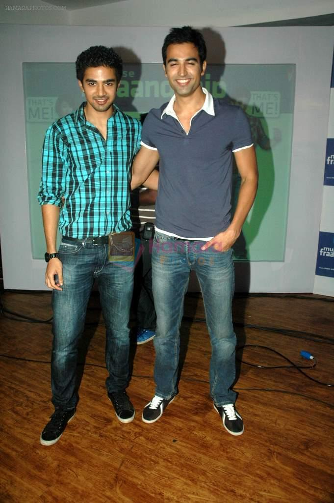 Saqib Saleem, Nishant Dahiya at Yashraj Films Mujhse Fraandship Karoge music showcase in Yashraj Studios on 28th Sept 2011