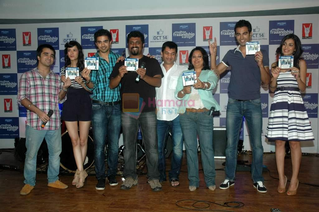 Saqib Saleem, Tara D'souza, Saba Azad, Nishant Dahiya at Yashraj Films Mujhse Fraandship Karoge music showcase in Yashraj Studios on 28th Sept 2011