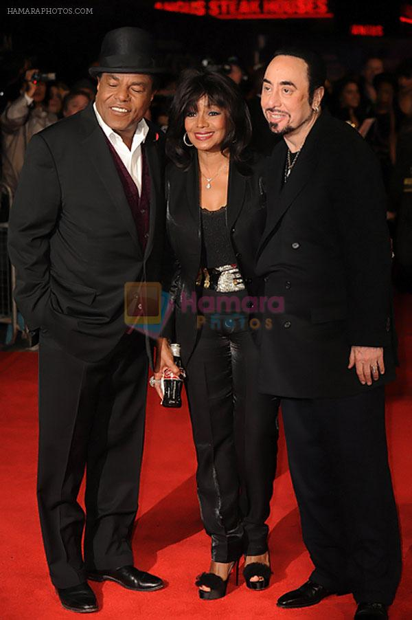 Tito Jackson, Rebbie Jackson and David Gest arrived for the world premiere of _Michael Jackson- The Life of an Icon_ in Empire Leicester Square on November 2nd, 2011