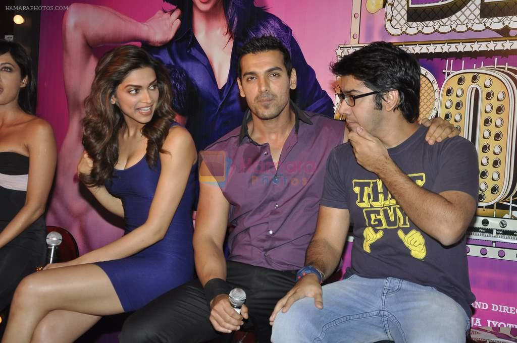 Rohit Dhawan, Deepika Padukone, John Abraham at Desi Boyz music launch in Enigma on 7th Nov 2011