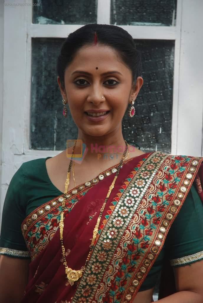 Rohini Banerjee at Sony TV's Saas Bina Sasural on location in Malad on 24th Nov 2011