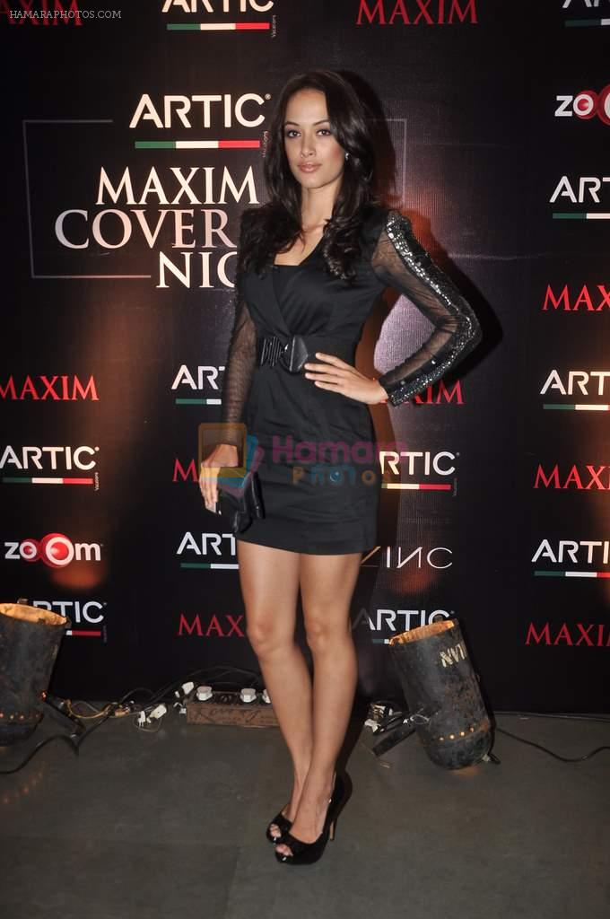 Angela Jhonson at Maxim mag cover launch in Parel, Mumbai on 30th Nov 2011