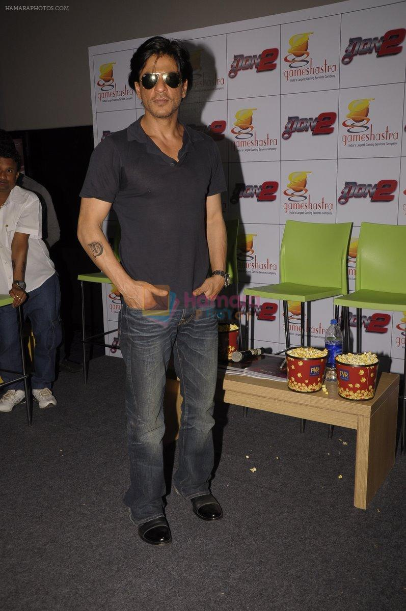 Shahrukh Khan at Don 2 Game Launch in Mumbai on 17th Dec 2011
