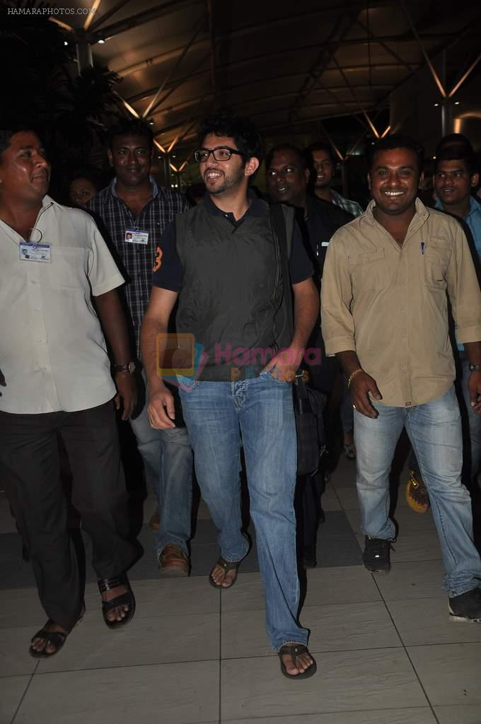 Aditya Thackeray snapped at airport on 19th Dec 2011