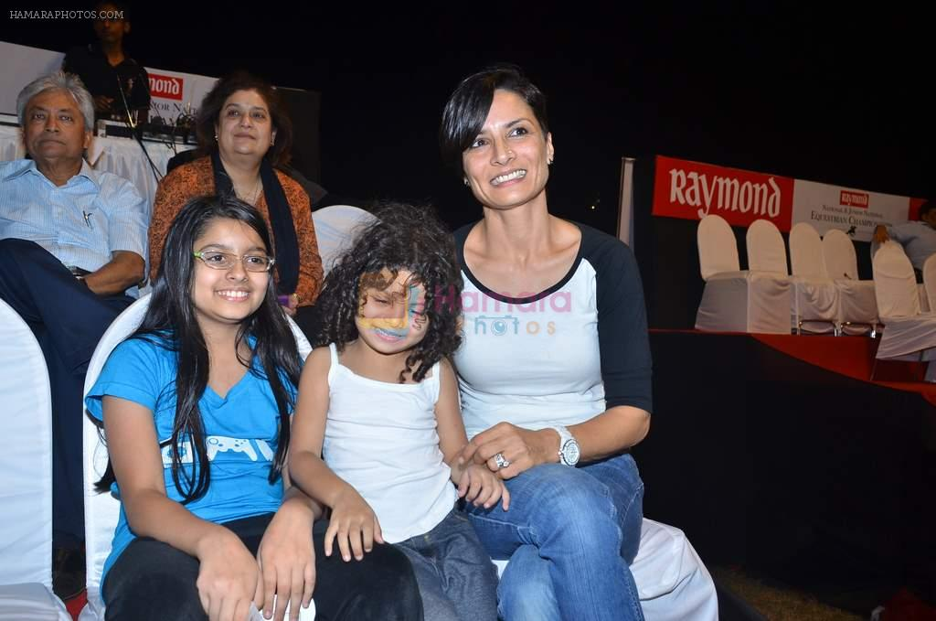 Adhuna Akhtar at Amateur Riders Clubs finals in Mahalaxmi Race Course on 21st Dec 2011